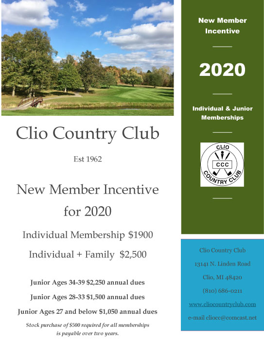 New Member Incentive Flyer